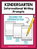 Kindergarten Informational Writing Prompts For Differentiation