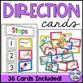 Visual Direction Cards Editable | Picture Direction Cards
