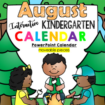 Kindergarten Interactive Calendar (AUGUST) - for Promethean Activinspire
