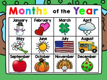 Interactive Kindergarten Calendar AUGUST