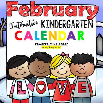 Kindergarten Interactive Calendar (FEBRUARY) - for Prometh