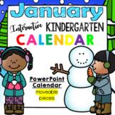Interactive Kindergarten Calendar (JANUARY) - for PROMETHEAN
