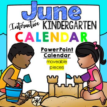 Kindergarten Interactive Calendar (JUNE) - for Promethean Activinspire