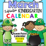 Interactive Kindergarten Calendar (MARCH) - for Promethean