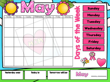 Kindergarten Interactive Calendar (MAY) - for Promethean Activinspire