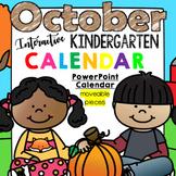 Interactive Kindergarten Calendar (OCTOBER) - for Promethean