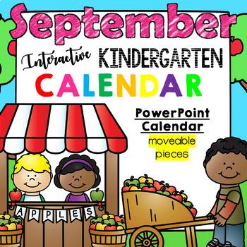 Kindergarten Interactive Calendar (SEPTEMBER) - for Promet