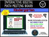 Kindergarten Interactive Digital Math Meeting Board & Calendar for Google Slides