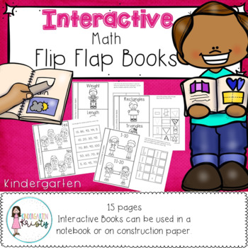 Kindergarten Interactive Flip Flap Books (Math)
