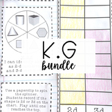 Kindergarten Math Journal - Geometry Bundle