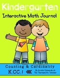 Kindergarten Interactive Math Journal {K.CC.1}