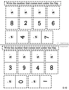 Kindergarten Interactive Math Journal {K.CC.2}