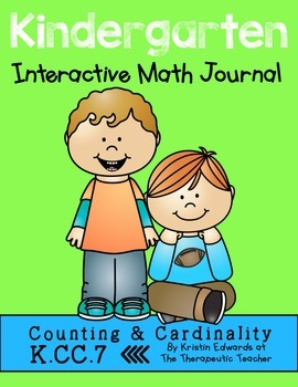 Kindergarten Interactive Math Journal {K.CC.7}