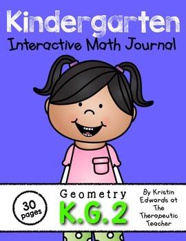 Kindergarten Interactive Math Journal {K.G.2}