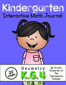 Kindergarten Interactive Math Journal {K.G.4}