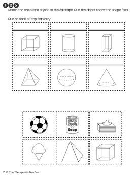 Kindergarten Interactive Math Journal {K.G.5 & K.G.6}