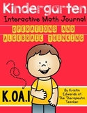 Kindergarten Interactive Math Journal {K.OA.1}