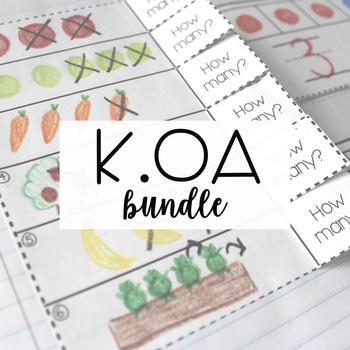 Kindergarten Math Journal - Operations and Algebraic Thinking Bundle