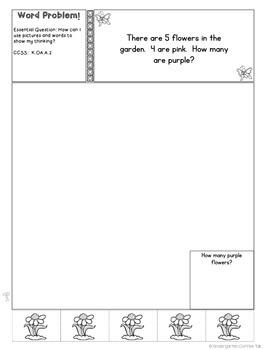 Kindergarten Interactive Math Journal for April