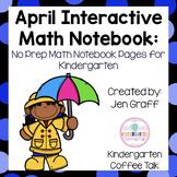 Kindergarten Interactive Math Notebook for April