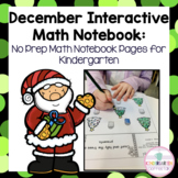 Kindergarten Interactive Math Journal for December