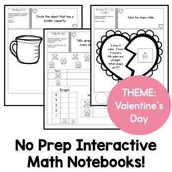 Kindergarten Interactive Math Journal for February