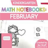 Kindergarten Interactive Math Notebook for February