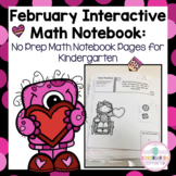 Kindergarten Interactive Math Journal for February