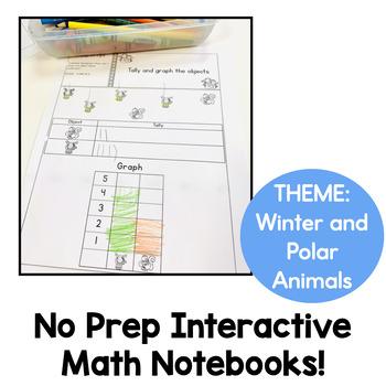 Kindergarten Interactive Math Notebook for January