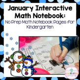 Kindergarten Interactive Math Journal for January