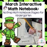 Kindergarten Interactive Math Notebook for March