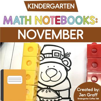 Kindergarten Interactive Math Journal for November