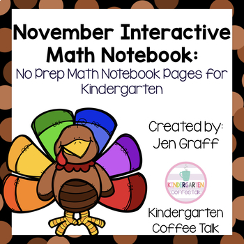 Kindergarten Interactive Math Notebook for November