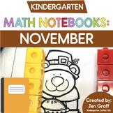 Kindergarten Interactive Math Notebook for November