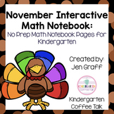 Kindergarten Interactive Math Journal for November