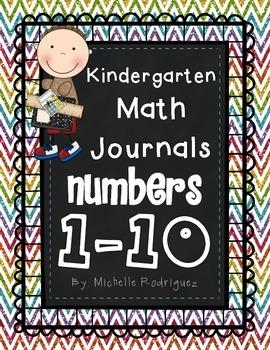 Kindergarten Interactive Math Journals Numbers 1 - 10