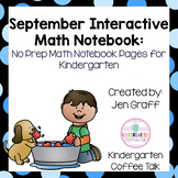 Kindergarten Interactive Math Notebooks for September