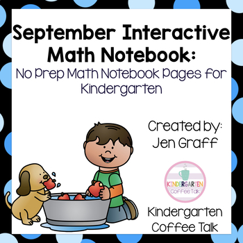 Kindergarten Interactive Math Journals for September
