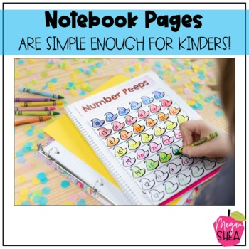 Kindergarten Interactive Math Notebook: Add On Pack Easter Theme