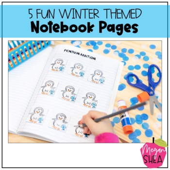 Kindergarten Interactive Math Notebook: Add On Pack Winter Theme