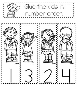 Kindergarten Interactive Math Notebook- August and September