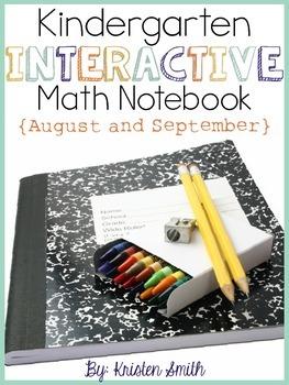 Kindergarten Interactive Math Notebook- August and September