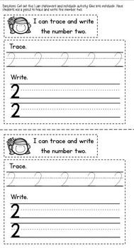 Kindergarten Interactive Math Notebook {August/September}