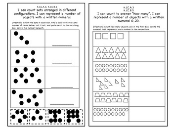 Kindergarten Math Counting Journal