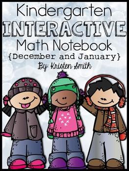 Kindergarten Interactive Math Notebook- December and January