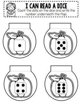 Kindergarten Interactive Math Notebook- October and November