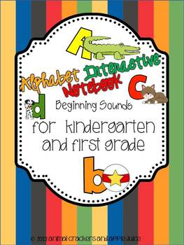 Kindergarten Interactive Notebook: Alphabet Recognition and Letter Sounds