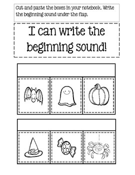 Kindergarten Interactive Notebook For October