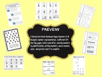 Interactive Math Notebooks - Kindergarten - Numbers 0-10