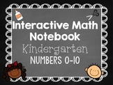 Interactive Math Notebooks - Kindergarten - Numbers 0-10